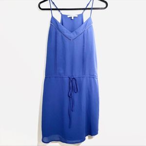 Naked Zebra Mini Dress Drawstring Blue Small